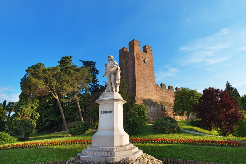 Statue (1878) dedicated to the painter Giorgione (1477/1510) in Castelfranco Veneto - Treviso - Italy