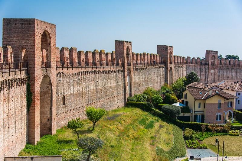 The walled city of Cittadella, medieval village in Veneto