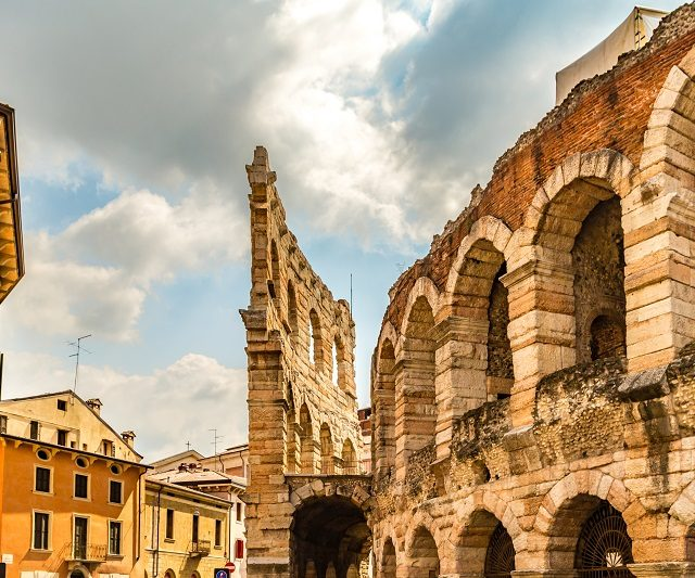 Stunning view of the amazing Verona Arena in Italy