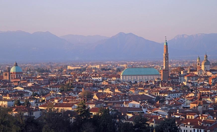 cityscape of Vicenza, Veneto region in northern Italy